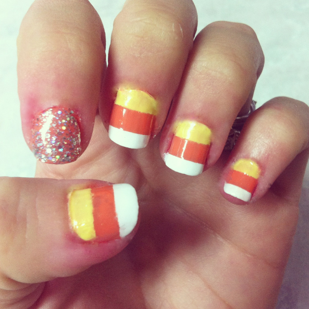 Halloween Nail Art Designs Without Nail Salon Prices: Tutorial: Candy Corn Nails